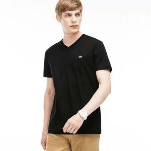 Lacoste Mens V Neck Tshirt